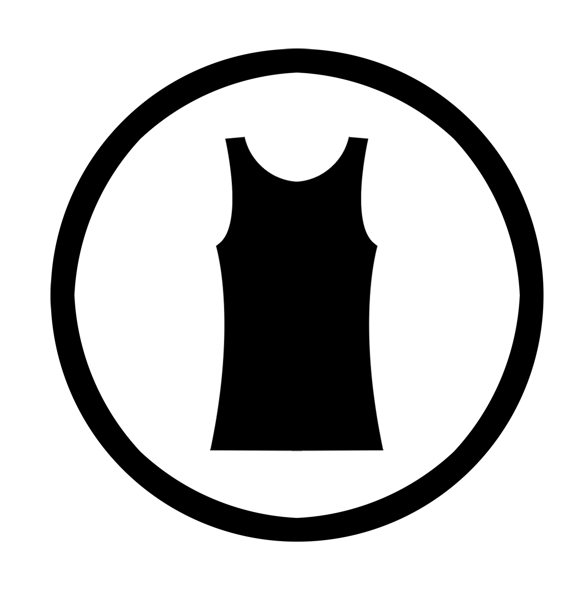Hex-neck Sleeveless Top