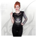 CAT'S TEARS - Lace Layered Cap Sleeve Top Black
