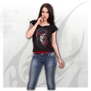 DAY OF THE DEAD - 2in1 Red Ripped Top Black