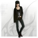 DAY OF THE GOTH - 2in1 Lace Vest Cardigan