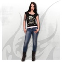 PUG LIFE - 2in1 White Ripped Top Black