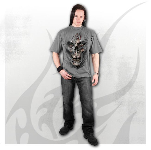 STITCHED UP - T-Shirt Charcoal