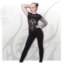 VAMPIRE'S KISS - Contrasting Lace and Mesh Panel Top
