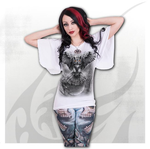 WINGS OF WISDOM - Latin Boat Neck Top White