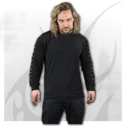 GOTHIC ROCK - Laceup Sleeve Gothic Top