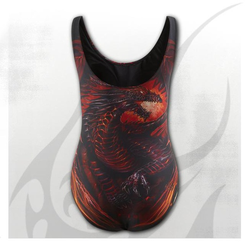 DRAGON FURNACE - Allover Scoop Back Padded Swimsuit