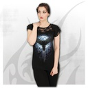 CROW MOON - Lace Layered Cap Sleeve Top Black