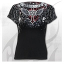 LIFE AND DEATH CROSS - Allover Cap Sleeve Top Black