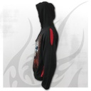 RESPAWN - Red Ripped Hoody Black
