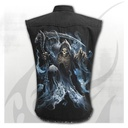 GHOST REAPER - Sleeveless Stone Washed Worker Black