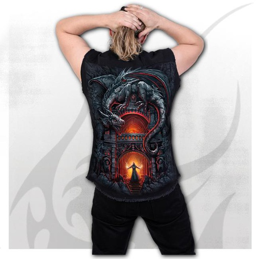 DRAGON'S LAIR - Sleeveless Stone Washed Worker Black