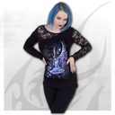 BLUEBELL FAIRY - Lace One Shoulder Top Black