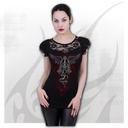 THE DEAD - Lace Layered Cap Sleeve Top Black