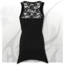 WHITE WOLF AO - Allover Goth Bottom Lace Top Black