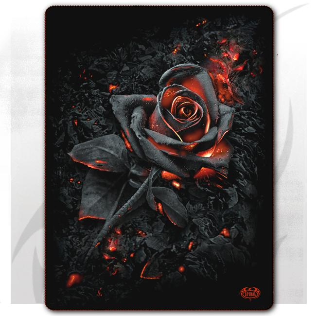 BURNT ROSE - Fleece Blanket with Double Sided Print