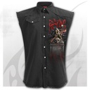 REAPING TOUR - Sleeveless Stone Washed Worker Black