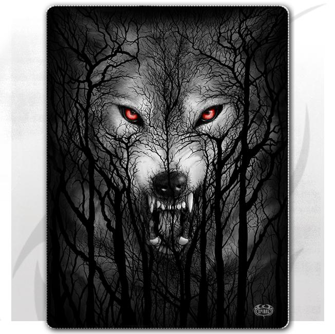 FOREST WOLF - Fleece Blanket with Double Sided Print
