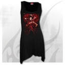 QUEEN OF HEARTS - Goth Bottom Camisole Dress Black