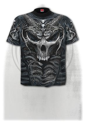 SKULL ARMOUR - Allover T-Shirt Black