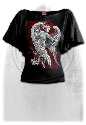 ANGEL DESPAIR - Boat Neck Bat Sleeve Top Black