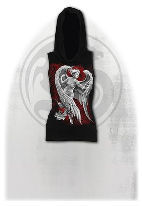 ANGEL DESPAIR - Sleeveless Gothic Hood Black