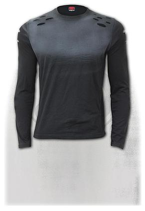 URBAN FASHION - Distressed Spray On Long Sleeve