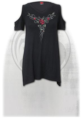 TRIBAL ROSE - Cold Shoulder Goth Bottom Top