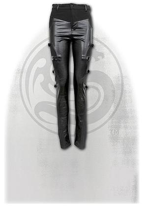 GOTHIC ROCK - Biker PVC Panel Buckle Trousers