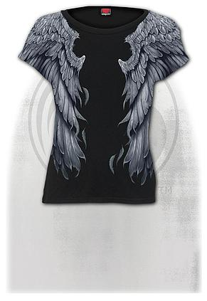 SERAPHIM - Allover Cap Sleeve Top Black