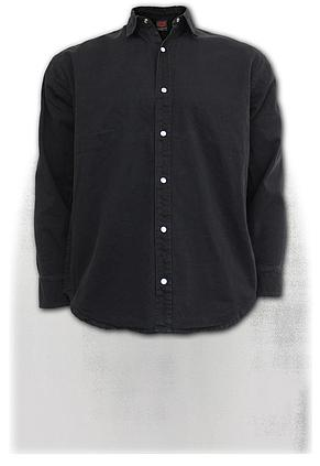 METAL STREETWEAR - Longsleeve Stone Washed Worker Black