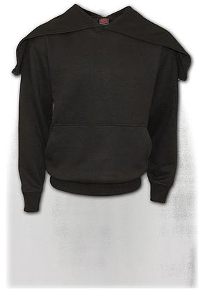 METAL STREETWEAR - Split Zip Hoody Black