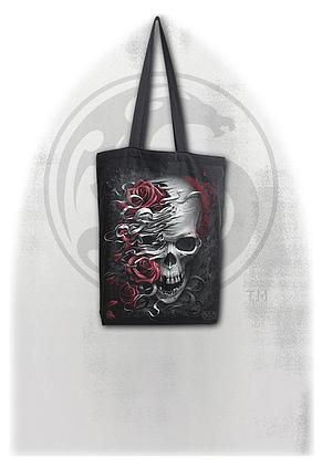 SKULLS N' ROSES - Bag 4 Life - Canvas 80z Long Handle Tote Bag