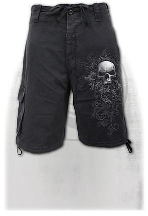 SKULL SCROLL - Vintage Cargo Shorts Black