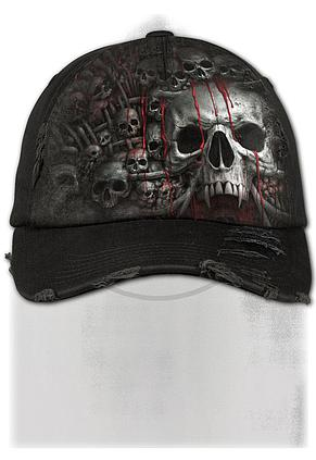 DEATH RIBS - Baseball Cap Distressed with Metal Clasp