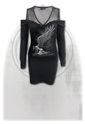 ANGEL - 2in1 Fine Mesh Shoulder Dress