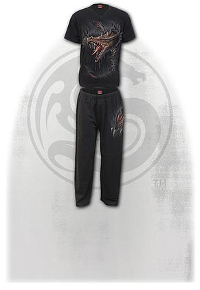 BREAKING OUT - 4pc Mens Gothic Pyjama Set