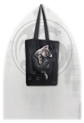 POCKET KITTEN - Bag 4 Life - Canvas 80z Long Handle Tote Bag