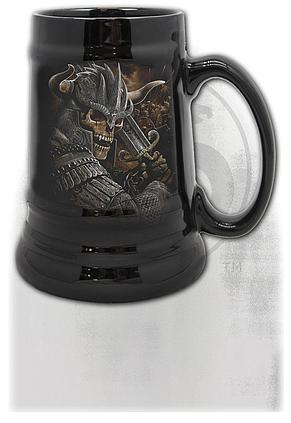 VIKING WARRIOR - Steins - Ceramic Beer Mug - Gift Boxed