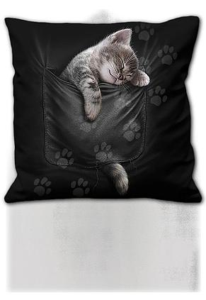 POCKET KITTEN - Square Cushion