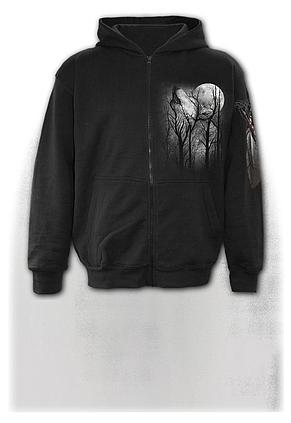 FOREST WOLF - Full Zip Hoody Black