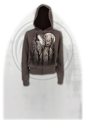 FOREST WOLF - Full Zip Hoody Chocolate
