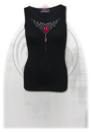 BLOOD ROSE AO - V-Neck Vest Top