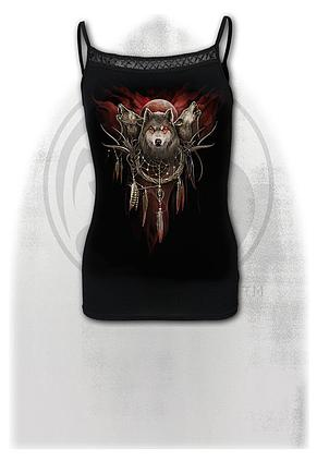 CRY OF THE WOLF - Cross Trim Camisole