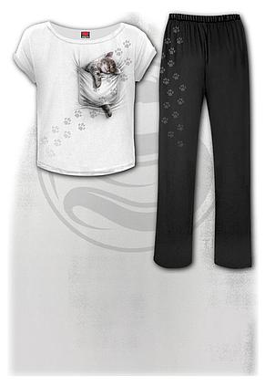 POCKET KITTEN - 4pc Gothic Pyjama Set