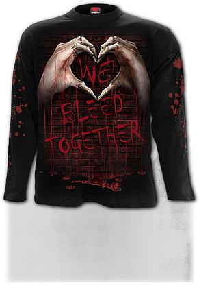 WE BLEED TOGETHER - Longsleeve T-Shirt Black