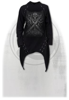STRAPPED - Laceup Sherwood Hoody with Teardrop Hem