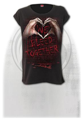 WE BLEED TOGETHER - Turnup Sleeve Loosefit Tee