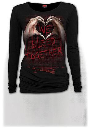 WE BLEED TOGETHER - Baggy Top Black