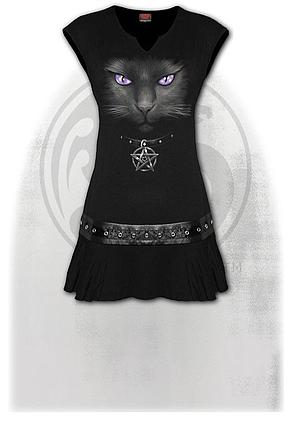 BLACK CAT - Stud Waist Mini Dress Black