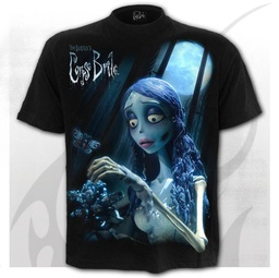 CORPSE BRIDE - GLOW IN THE DARK - Front Print T-Shirt Black